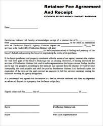 10 sample retainer agreement free sample example format download