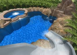 Best Backyard Water Slides Swimming Pool Modern Water Slide On Cool Swimming Pool Design