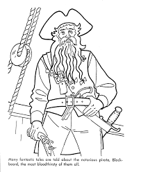 caribbean pirates of the sea coloring page crafts pinterest