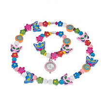 necklace making set images Time design kids jewellery making set beads watch necklace or jpg