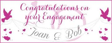 Congratulations Engagement Banner 2 Personalised Engagement Banners Choice Of Colours