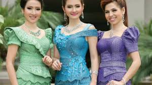 cambodian khmer cloth design 2016 party event dress for girls