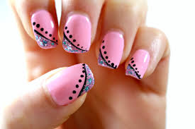 At Home Nail Designs Easy Sterling Wedding Nail Also Nail Design To Relaxing Silvery Glitter