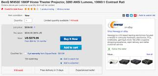 1080p home theater projector benq mh530 1080p home theater projector 380 shipped 9to5toys