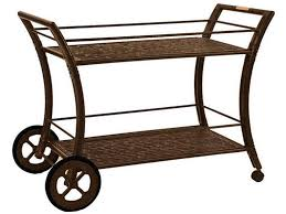 Zing Patio Castelle Outdoor Patio Serving Cart Lrt3418 Zing Casual Living