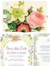 vintage floral wedding invitations roundup