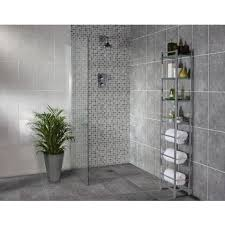 homebase bathroom ideas sorrento wall tile light or dark grey 250 x 400mm 10 pack