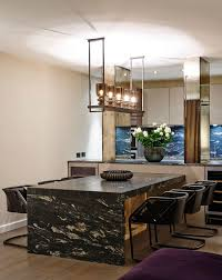 built in dining table built in dining table dining room contemporary with mirror pillars