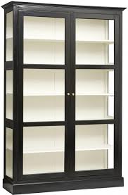 wood and glass cabinet classic double glass cabinet black painted wood by nordal
