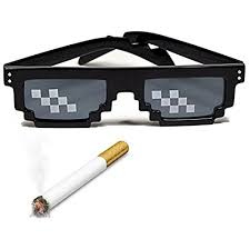 Pixel Sunglasses Meme - deal with it thug life glasses pixel 8 bit mlg internet meme