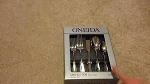 oneida voss flatware unboxing and initial impressions youtube