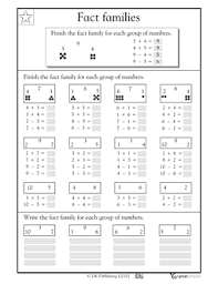 printables fact family worksheets 2nd grade ronleyba worksheets
