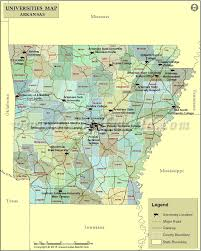 of arkansas cus map list of universities in arkansas map of arkansas universities and
