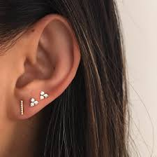 bar stud earrings diamond bar stud earring ef collection