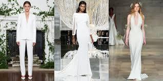 simple wedding dress 25 simple wedding dresses from fall 2018 bridal week