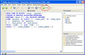 sql query browser tutorial creating a view with mysql query browser packt hub