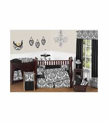 Black And White Crib Bedding Set Sweet Jojo Designs Black White 9 Crib Bedding Set