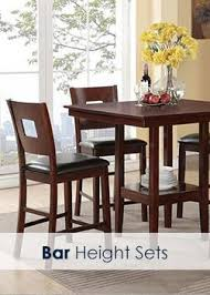 Bar Height Dining Room Sets Las Vegas Dining Room Sets Free Shipping And In Home Set Up