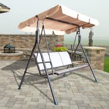 outdoor 3 person canopy swing glider hammock patio furniture