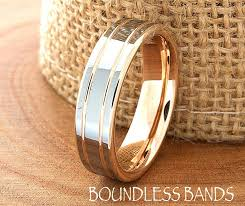 anniversary engraving gold wedding band ring 6mm 18k two tone wedding band