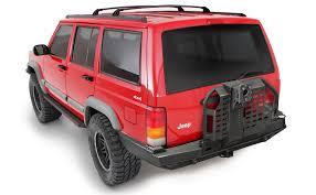 jeep xj bumper smittybilt new xj xrc rear bumper w tire carrier u2013 taw all access