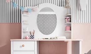 bureau pour chambre de fille bureau design fille avec rangements cocoon pas cher
