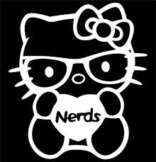 draw kitty nerd face kitty nerd die cut vinyl