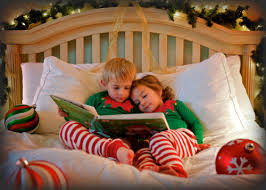 kids reading christmas book together via and other great