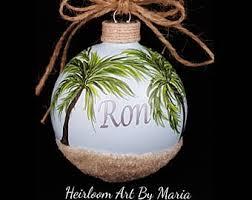 ornament palm tree etsy