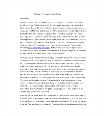 9 monthly newsletter templates free sample example format