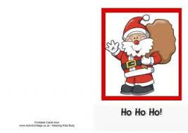 printable card santa
