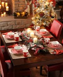 christmas table centerpiece rustic dining table decor red candle