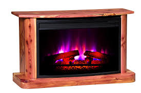 rustic cedar electric fireplace from dutchcrafters amish furniture
