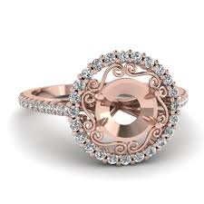 Rose Wedding Ring by Ring Settings Without Center Diamond Fascinating Diamonds