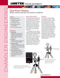 bureau standard chanscope ii and standard bureau of mines dew point tester ametek