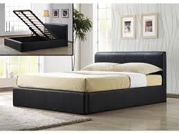 modern bedroom furniture with black king size bed frame with