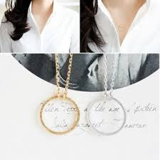 metal circle necklace images Best hammered circle pendant necklace products on wanelo jpg