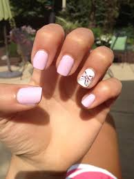 light pink nails with a cute bow nails pinterest light pink