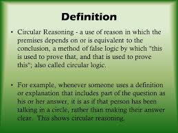 theme question definition begging the question circular reasoning ppt download