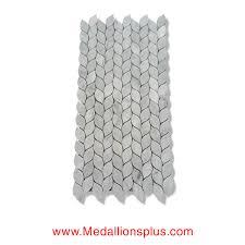 leaves carrara marble polished mosaic tiles medallionsplus com