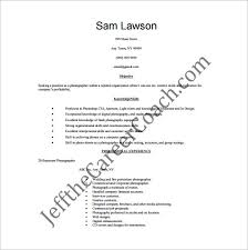 skill exle for resume photographer resume template 10 free word excel pdf format
