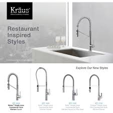 kraus kpf 2630ch mateo polished chrome kitchen faucets commercial