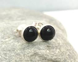 black onyx stud earrings onyx stud earrings etsy