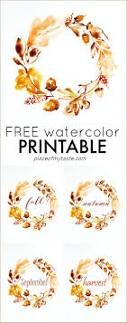 free watercolor thanksgiving printable place of my taste