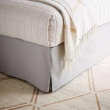 Linen Bed Linen Cotton Bed Skirt West Elm