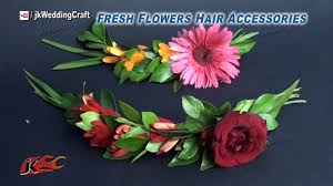 How To Make Flower Hair Clips - diy how to make a fresh flower hair accessories jk wedding