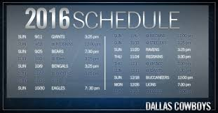 cowboys to open against giants will play six national tv in