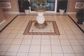 brilliant hallway space design with diamond ceramic floor tile