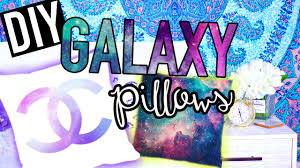 diy galaxy pillows room decor for teens youtube