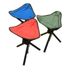 camping folding stool portable 3 legs chair tripod seat oxford